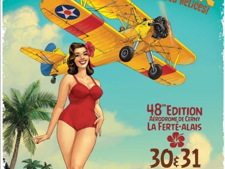 Superbe affiche annoncant la Ferté-Alais 2020
