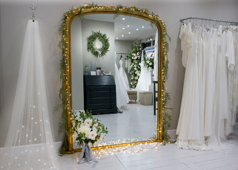 Christmas Faux Floral Display at Essex Wedding Shop