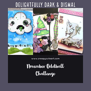 oddball art challenge creepy cute art