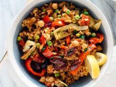 Vegan Vegetable Paella