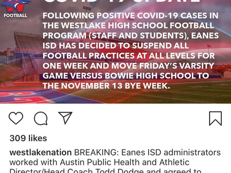 COVID Infections Hit Chap Football