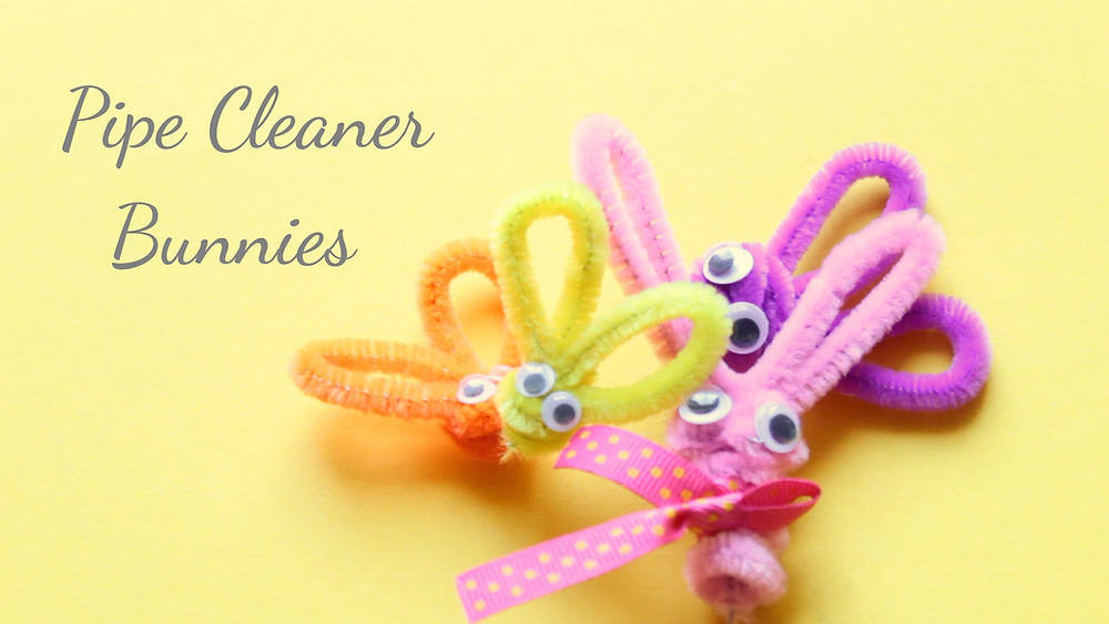 Easter Crafts  Pipe Cleaner Bunnies