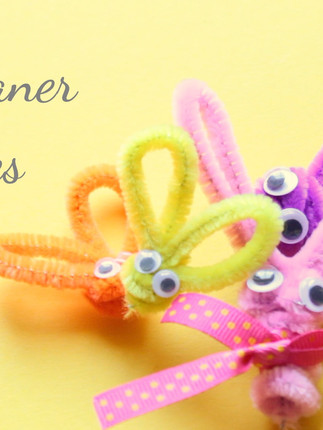 Easter Crafts 1 : Pipe Cleaner Bunnies