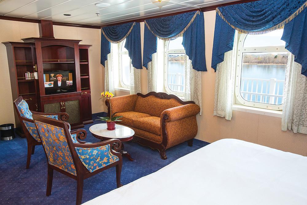 Veranda Suite on American Empress, American Queen Steamboat Company