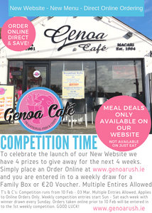 Competition Time! | Genoa Cafe News | Genoa Cafe