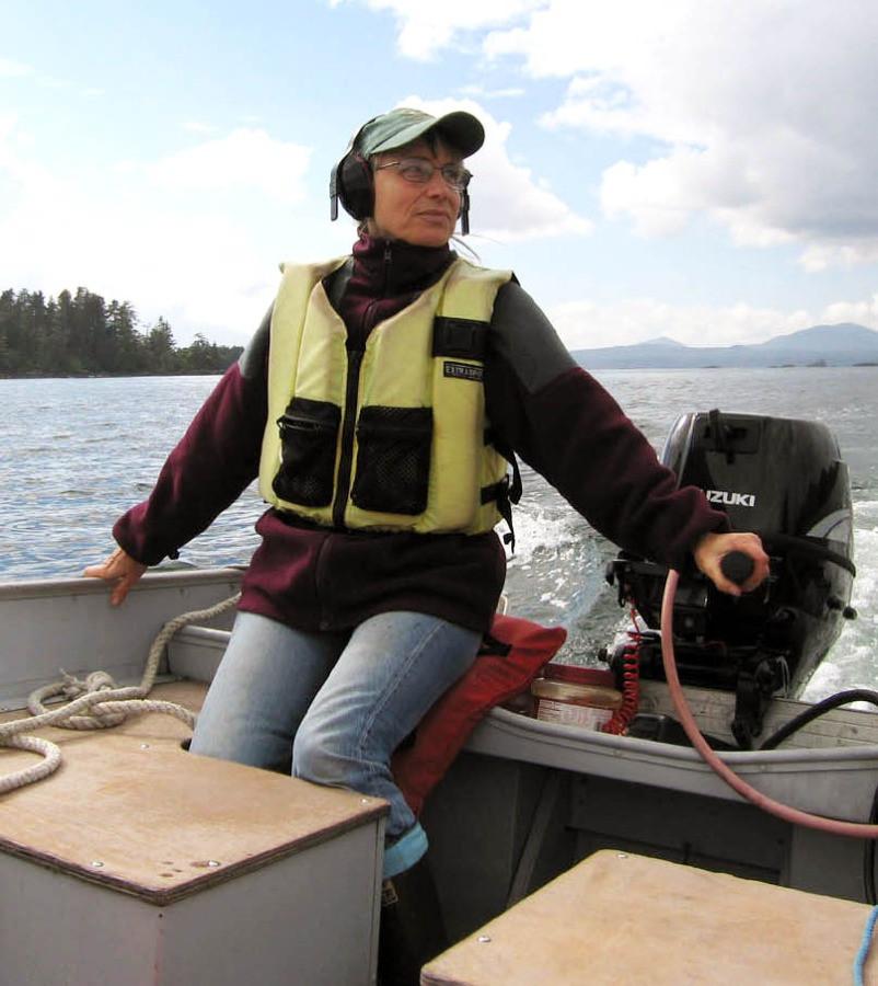 AMSEA instructor, Marian Allen