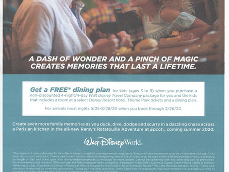 Tasty Kid-Size Package Offer - WDW