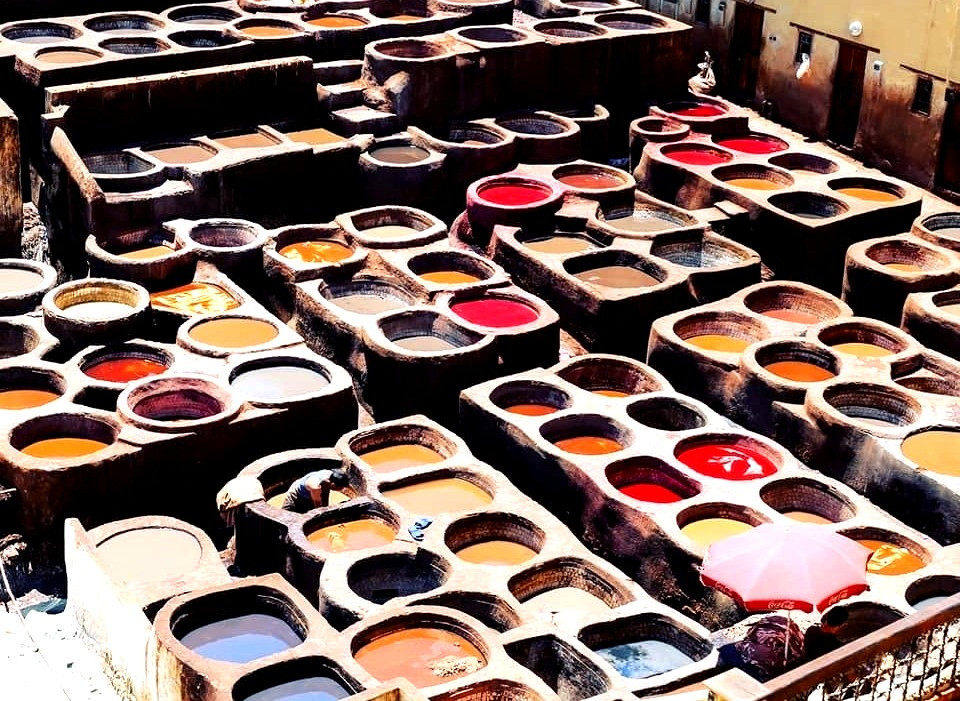Morocco Fes Chouara tannery