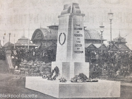 Blackpool's First Remembrance Day