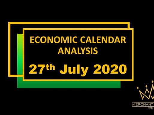Merchant Economic Calendar | July 27, 2020
