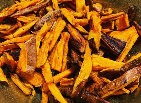 Vegan Sweet Potato Fries with a Garlic Lemon Aioli