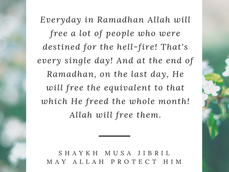 An Extremely Generous Month (Ramadhaan)