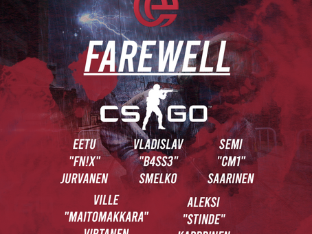 FAREWELL CSGO MAIN TEAM!