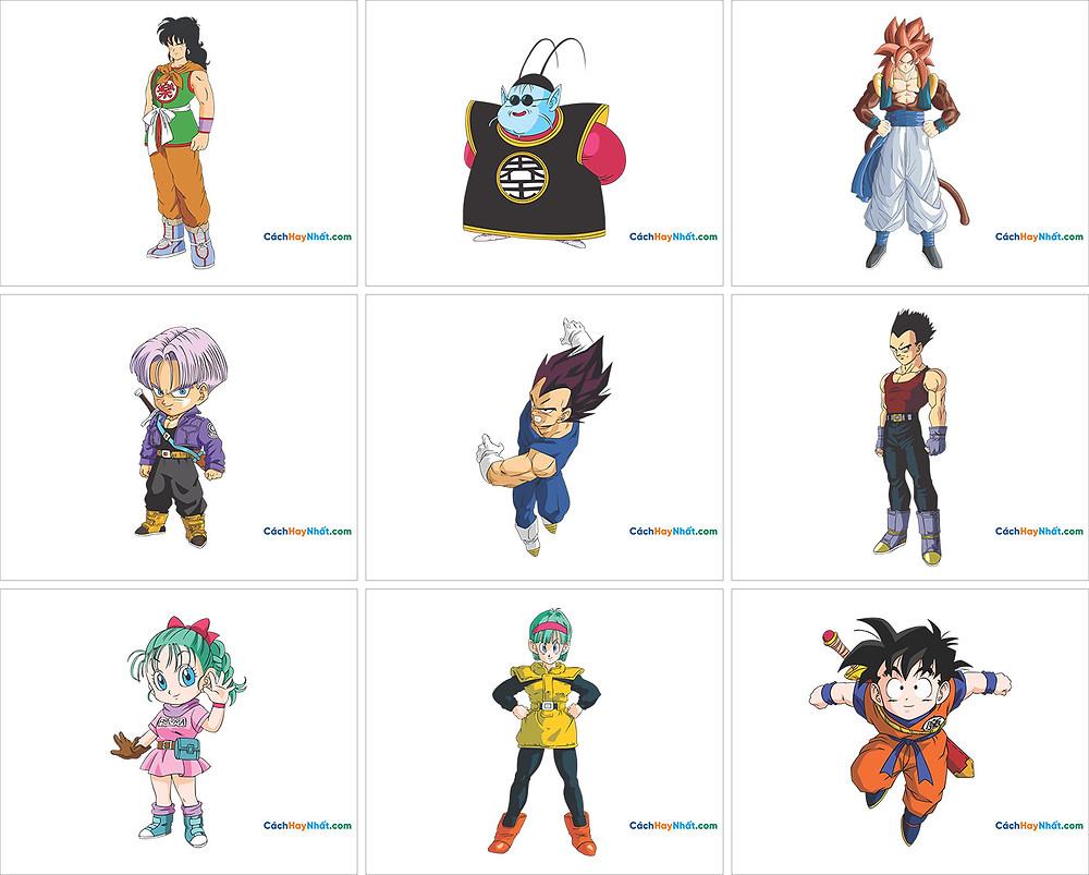 Free Vector Corel PNG 7 Dragon Ball - 7 Viên Ngọc Rồng 07