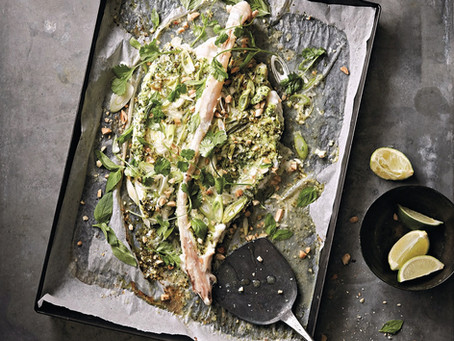 Main: Whole Roasted Monkfish Tail with Vietnamese Marinade by Prawn on the lawn