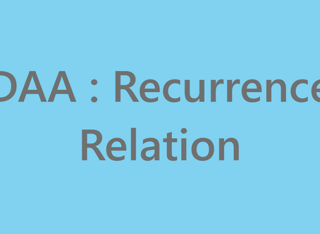 DAA : Recurrence Relation
