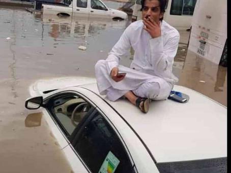 Floods & Snowfall in Kuwait 6/11/18