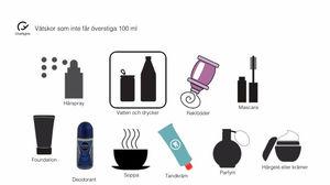 regler vätska handbagage