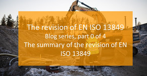 Blog series: The revison of EN ISO 13849: Part 0, the overview