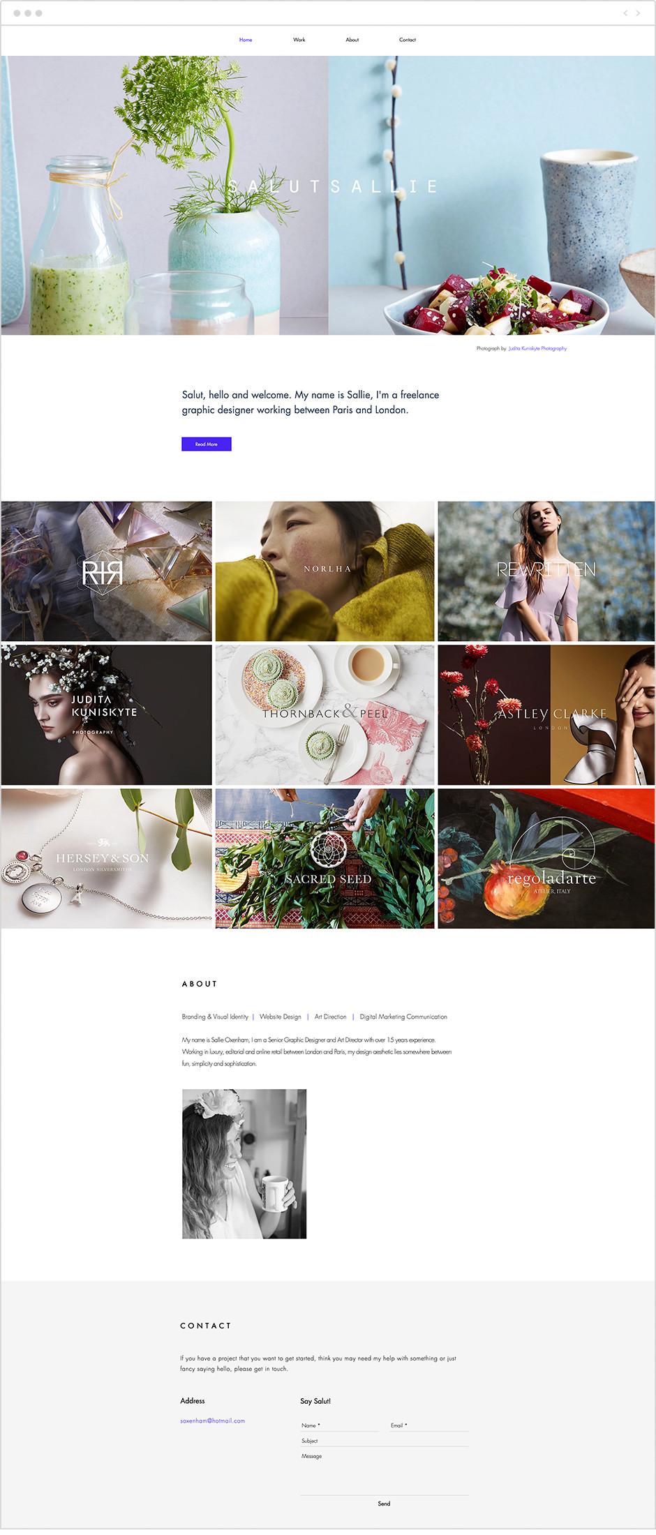 Exemple portfolio - Salut Sallie