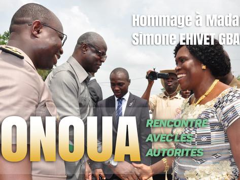BONOUA : HOMMAGE A MADAME SIMONE EHIVET GBAGBO - VISITE AUX AUTORITÉS ADMINISTRATIVES