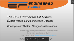 Single Phase Liquid Immersion Cooling Primer for Bit Miners
