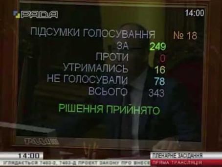 ВерховнаРада ухвалила законопроект №7403-д