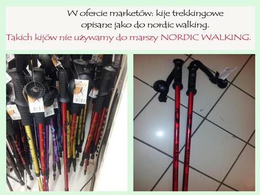 Kije do nordic walking a oferta marketów