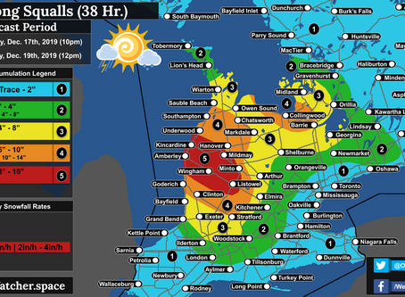 Strong Snow Squalls and Blizzard-Like Conditions to Impact Southwestern Ontario