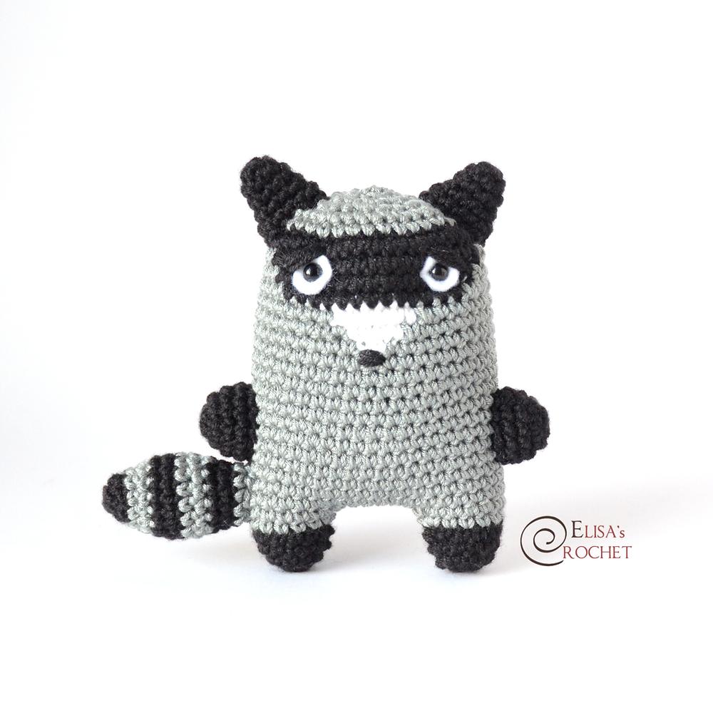 Amigurumi raccoon pattern. Crochet pattern. Baby raccoon pattern ... | 1000x1000