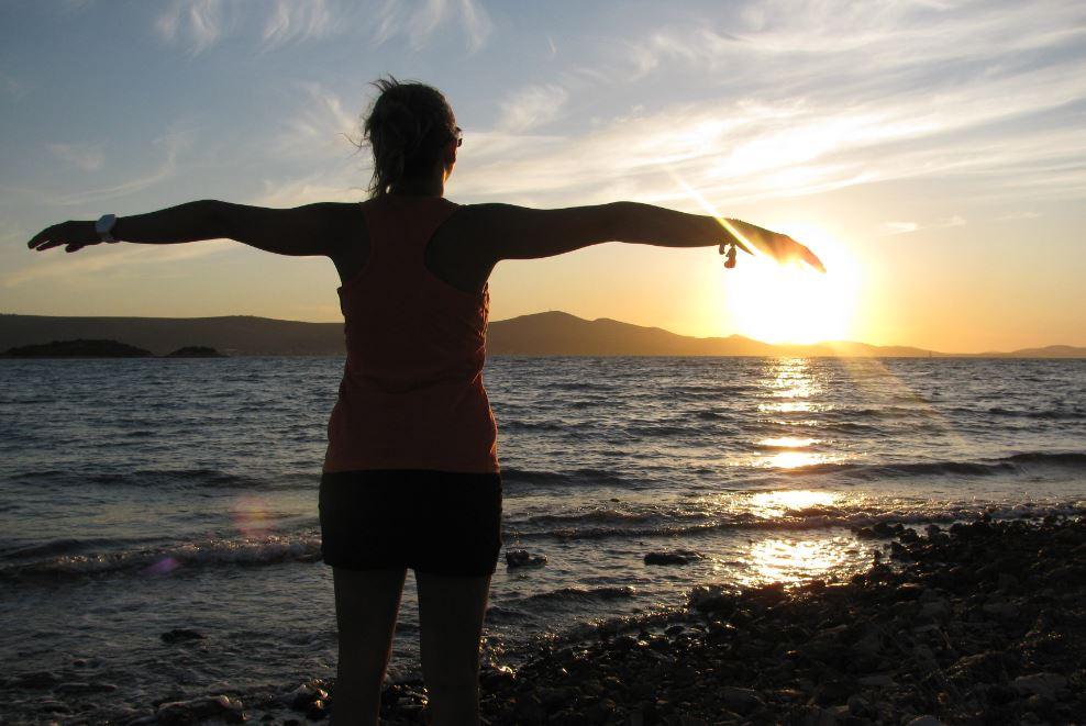 Uno de las maravillosas puestas de Sol que vimos en Croacia
