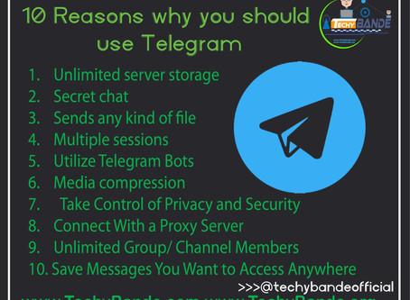 10 Reasons why you should use Telegram
