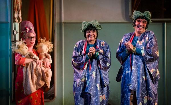 Katy Owen, Etta Murfitt and Gareth Snook in Wise Children (Steve Tanner)