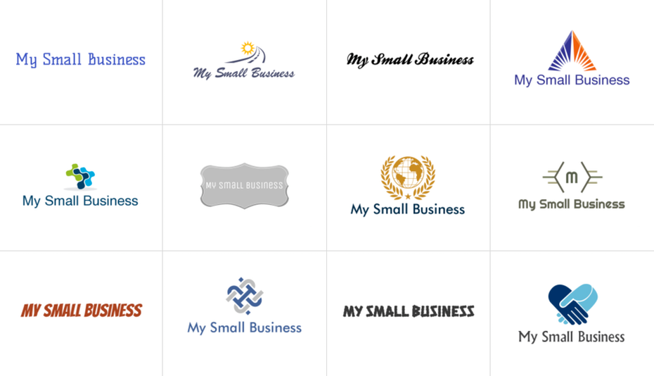 Logo makers generate hundreds of concepts based on the name and industry of your business.