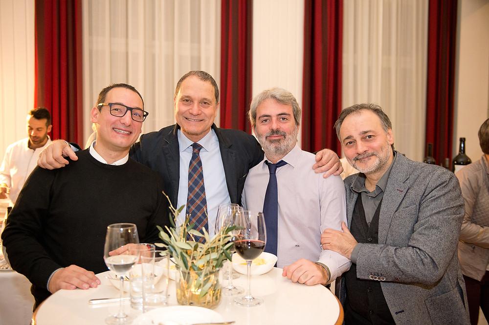 Riccardo Farabegoli, Riccardo Scarpellini, Francesco Marcocci, Marco Oreggia (Bild: Grand Resort Bad Ragaz)