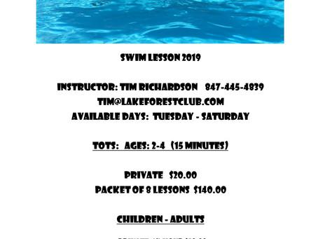2019 Swim Lessons with Tim