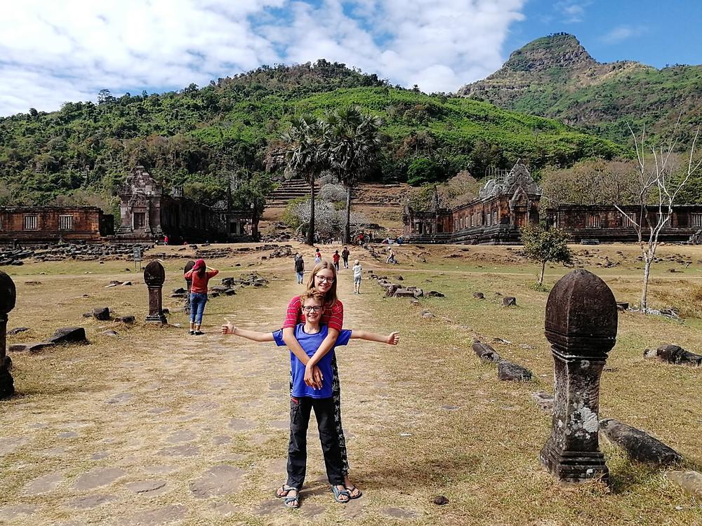 Tour du monde à vélo en famille Vat Phou Champasak