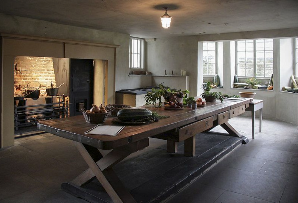 Ham House, kitchen, European kitchen, Ham House kitchen, unique kitchen, kitchen ideas, kitchen layout, small kitchen, large kitchen, 17th century kitchen, classical architecture