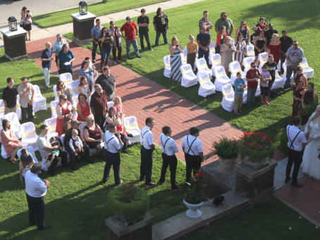 Wedding on the front lawn