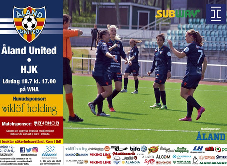 Ligatoppen igen mot Åland United på lördag