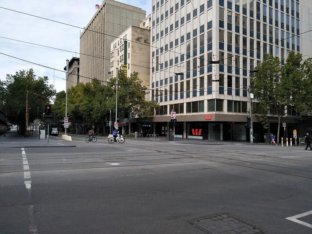 Melbourne CBD deserted during COVID-19 pandemic lockdown