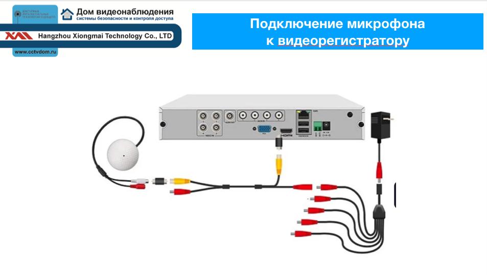 Подключение микрофона к видеорегистратору. Активный микрофон в системах видеонаблюдения
