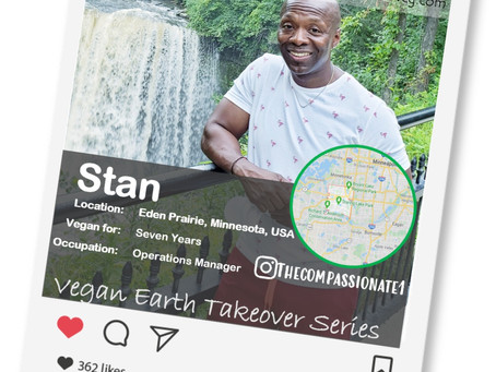 Introducing our Vegan of the week.....Stan!🌎💚🌱