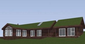 Laftet moderne hytte