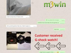 M3win Lucky Draw - G-Shock