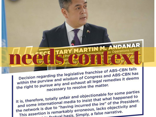 PCOO files refute Andanar rant vs reports on ABS-CBN closure