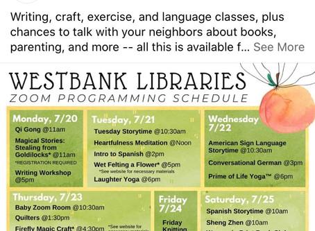 This Week At Westbank Libraries