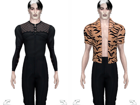 DOWNLOAD new male clothing for SLIM THOR mesh / archive 15 packages