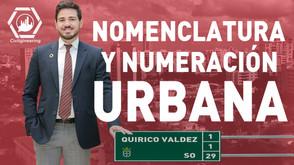 Nomenclatura y Numeración Urbana