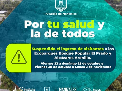 SUSPENDIDO TEMPORALMENTE EL INGRESO AL BOSQUE POPULAR EL PRADO Y LOs alcázares